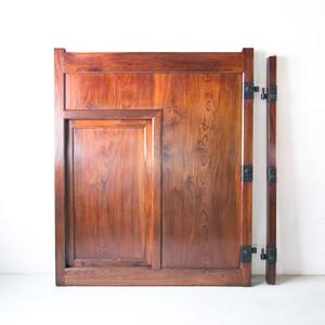 上杢総欅造くぐり戸