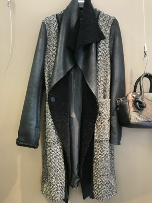 ecoleatherx tweed coat    Collection Privee 2019AI