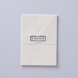 HI002KN 斐伊川和紙 洋封筒 きなり 5枚入