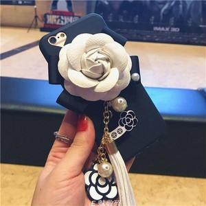 タッセル&お花付き スマホケース【iphone用】 H128