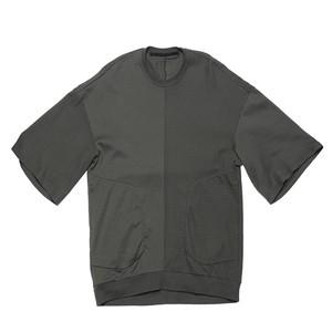 687CUM6-MUD KHAKI / 2 FACE OS Tシャツ
