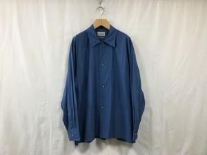 """""""在庫有り""""Marvine Pontiak shirt makers""""Side Vents Shirt Indigo CH"""""""