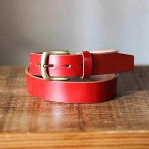 HL-B02/RED (巾35mm ハーネスレザーベルト/丘染め)