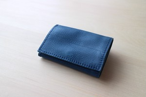 PLAY WALLET - LEATHER[BLUE]