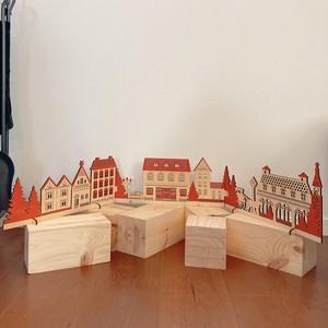 wood town partition ウッドタウンパーテーション クリスマスディスプレイ 木製 ナチュラルL