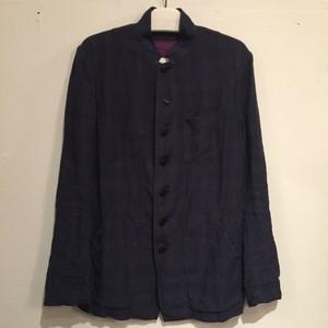 【Chez Vidalenc】Jacket poly linen check