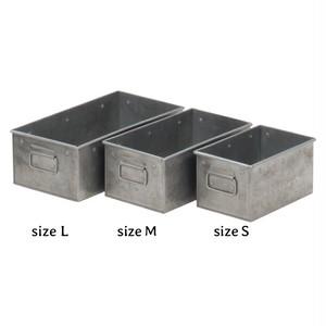 ブリキ収納レクタングルボックス(Sサイズ)