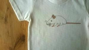 手描きTシャツ ハツカネズミ