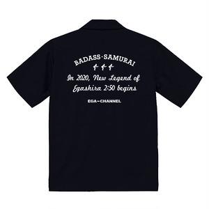 オープンカラーシャツ    EGA250  白