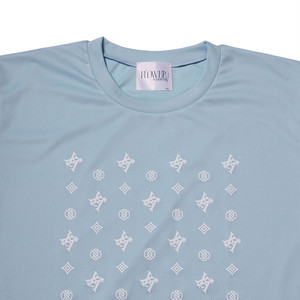 【FLOWER by RADIO EVA 018】EVA Monogram T-Shirt  BLUE / EVANGELION エヴァンゲリオン