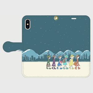 夜の旅 iPhone用手帳型ケース