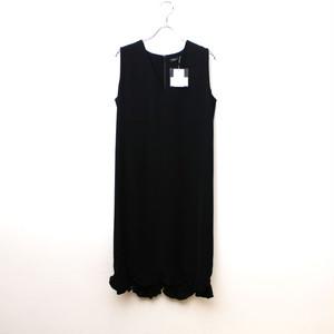 【新品】YOKO CHAN / ヨーコ チャン   YOKO CHAN/裾フリル ノースリーブドレス ワンピース/38/ブラック   38   ブラック