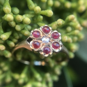 Ruby Cherry blossom Ring