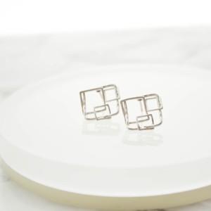 Square Motif Pierce(Silver)