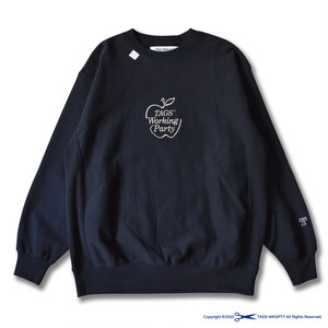Apple Crewneck Sweat Navy