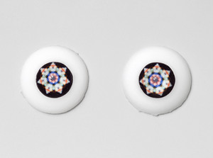 Silicone eye - 15mm Rosace Etoile on Natural Color Sclera