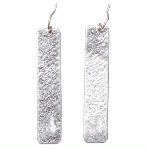 TIN BREATH Pierced earring H 10×50mm Silver