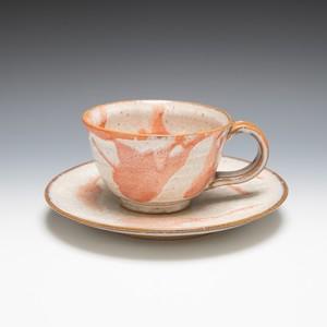 コーヒーカップ流(橙)