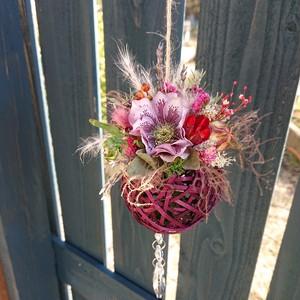 シックな野花のサンキャッチャー