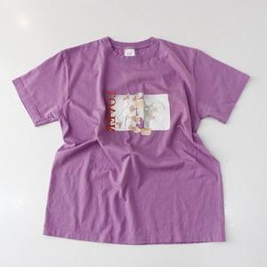 """ STAMP "" LOVER tee ( purple )"
