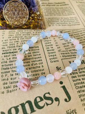 【愛され力UP、あなたの魅力を引き出す】サムシングブルー薔薇ブレス