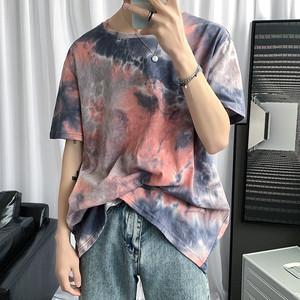 クルーネックタイダイTシャツ BL5632