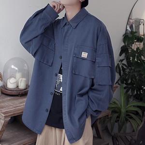 【FAST】バックプリントミリタリージャケット#BL4645