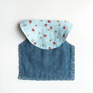 苺×デニム風ダブルガーゼの汗取りパッド