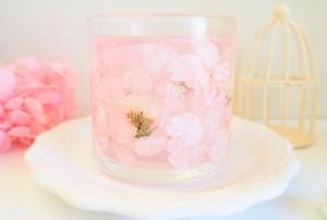 【名入れ可】桜色*ゆめいろフラワーキャンドルホルダー