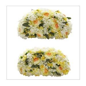 イエロー紫陽花の高砂装花(約W40㎝×2個セット)メインテーブル・ウェルカムスペースに最適