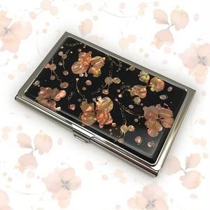 天然貝 名刺カードケース(桜・SAKURA)<螺鈿アート> 【ラッピング対応】