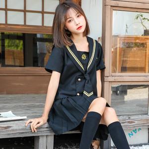 9875セーラー服 コスチューム jk制服 女子高生服 制服 セット 夏 春秋 長袖 半袖 ワイシャツ+スカート レディース 可愛い ショートプリーツスカート