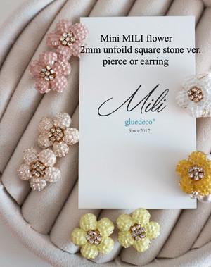 透明スクエアスワロ2ミリMini MILI flower
