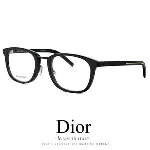 Dior メンズ メガネ blacktie260f 807 眼鏡 ディオール Christian Dior クリスチャンディオール ウェリントン 黒ぶち 黒縁