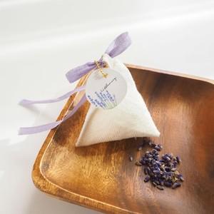 イライラを沈めリラックスしたいときのサシェ(香り袋)/ベルギーリネンとラベンダー