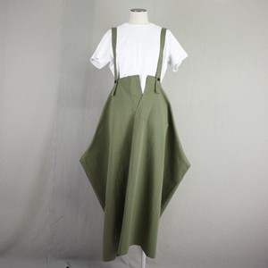 サイド凸 サロペットロングスカート