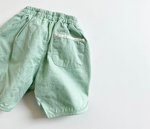 cotton piping halfpants