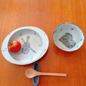 森圭介 sora 子供食器 めし碗 お茶碗 ピアノ 楽器 京焼 離乳食 出産祝い moiオリジナル 別注 陶芸作家 器 うつわ MR-006