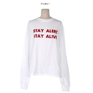 カラー ロゴ 長袖Tシャツ(4カラー)