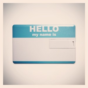 LIXTICK USB CARD MEMORY 8GB – HELLO (BLUE)