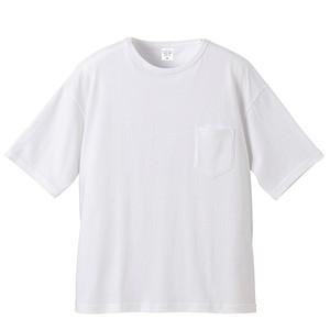 ビックシルエット Tシャツ(ポケット付) 無地 5.6オンス  ホワイト