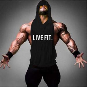 LIVE FIT.リブフィット Live Fit Cut Off Hoodie V2(フーディー)-  【Black】 メーカー直輸入品!