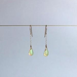 Opal Single Chain Earrings