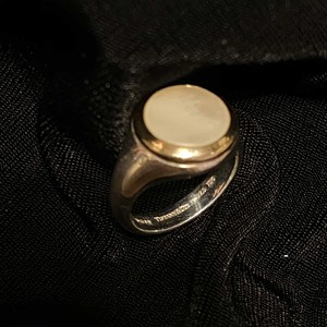 TIFFANY Gold×Silver×Shell Ring -Super Rare!!-