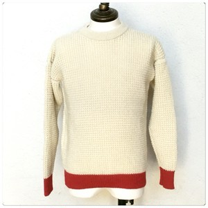 Guernsey Sweater Woollens Made In England /White×Red
