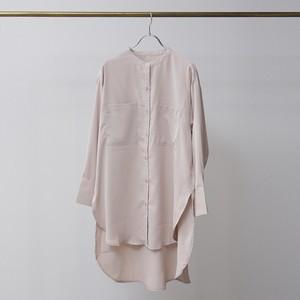 とろみバンドカラーチュニックシャツ FLE21030
