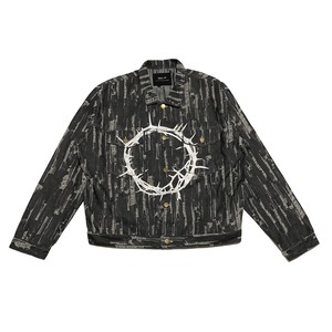ILL IT - CIRCLE DENIM JACKET (BLACK)