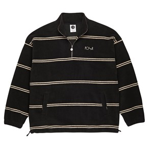 POLAR SKATE CO. Striped Fleece Pullover black L ポーラー ボーダー フリース