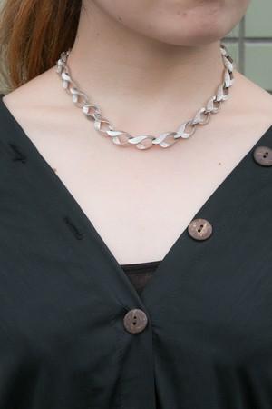 【Run Rabbit Run Vintage 】Monet silver color necklace