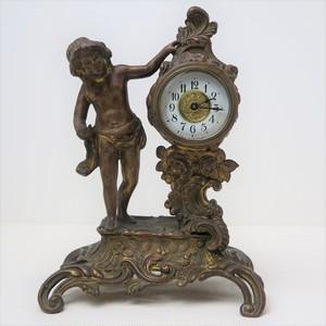 精工舎 ブロンズ置時計 少年の像